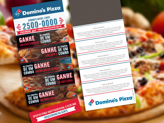 Ima de geladeira da Pizza Dominos